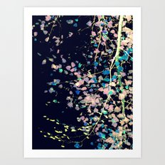Nature Pattern # 4 - Birch (Blue) Art Print
