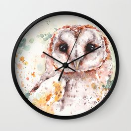 Australian Barn Owl Wall Clock