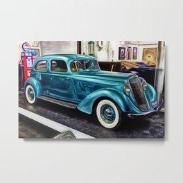 Vintage 1934 Hupmobile Aerodynamic Painting Metal Print