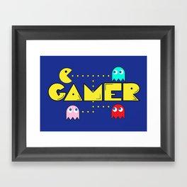 Classic Gamer: Pacman Framed Art Print