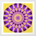 Bold Purple and Yellow Mandala by hereswendy