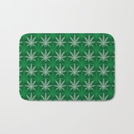 Green Pattern Bath Mat