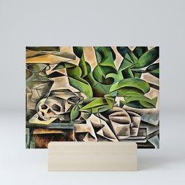Still life with Skull After Bohumil Kubista Mini Art Print