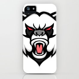 Angry Giant Panda Mascot iPhone Case