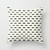 moustache Throw Pillows featuring *Moustache* by Mr & Mrs Quirynen