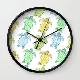 Ocean turtles Wall Clock