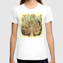 Aztec Collection: The Seven Caves of Chicomoztoc T-shirt