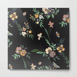 Black Forest Floral Print  Metal Print