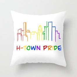H-Town Pride (Color) Throw Pillow