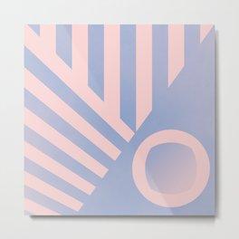 Pattern colors 2016 rose quarz and serenity blue Metal Print