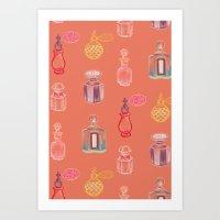 perfume Art Prints featuring Perfume by Pim-Pimlada Studio