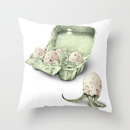 In which dinosaur eggs are hardly fit for human consumption  Throw Pillow