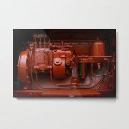 Red Tractor motor Metal Print