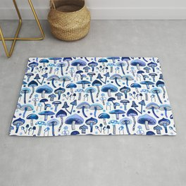 Blue Mushrooms Rug
