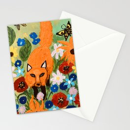 Fox In The Garden  Stationery Cards