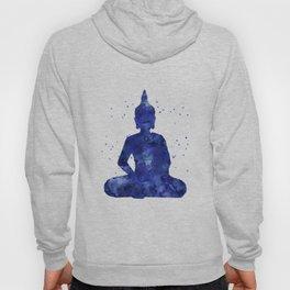 Buddha - Zen Watercolor Blue Hoody