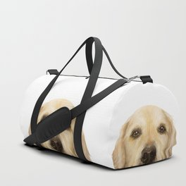 Golden retriever Dog illustration original painting print Duffle Bag