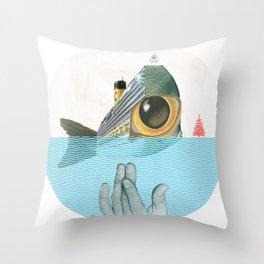Fish & sChips Throw Pillow