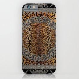 Baroque Leopard Scarf iPhone Case