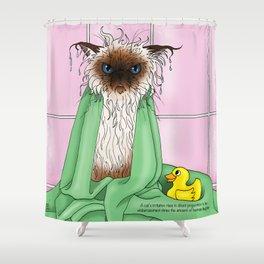 Bathtime Humiliation Shower Curtain