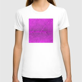 Neon Pink Leaf with Veins T-shirt