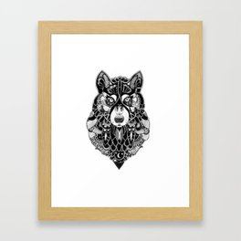 Ornate Wolf Framed Art Print