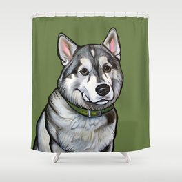 Aspen the Husky Shower Curtain