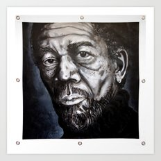 Morgan Freeman Art Print