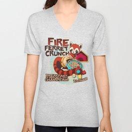 Fire Ferret Crunch Unisex V-Neck