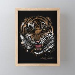 Tiger Face (Signature Design) Framed Mini Art Print