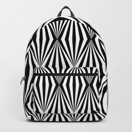 Abstract monochrome geometric pattern Backpack