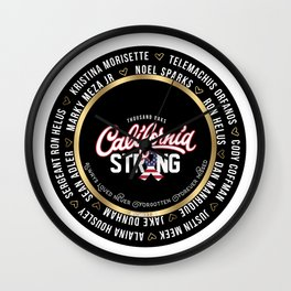 Thousand Oaks California Strong Keepsake Sticker  In Loving Memory Victim Names Wall Clock