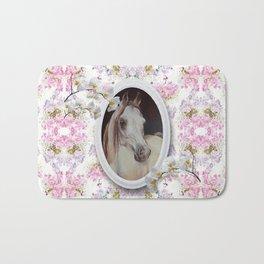 White orchids & Arabian mare Bath Mat
