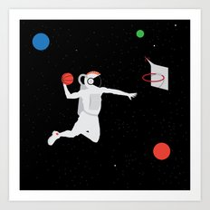 NBA Space 1 Art Print