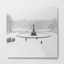 Snow Day NYC Metal Print