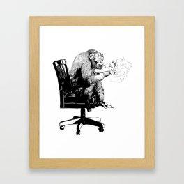 """""""On Mah Break"""" Gorilla Framed Art Print"""