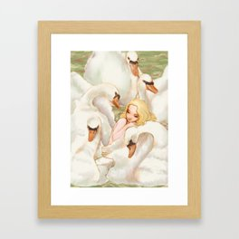 Elise and the Wild Swans Framed Art Print