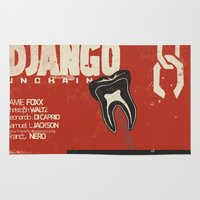django Area & Throw Rugs featuring Django Unchained - Alternative movie poster by Stefanoreves