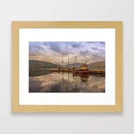 Evening at the Dock Framed Art Print