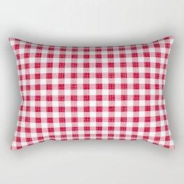 Rustic - Red Gingham Rectangular Pillow