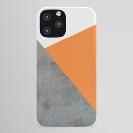 Concrete Tangerine White iPhone Case