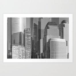 """Urban Angles 1 bw"" by Murray Bolesta Art Print"