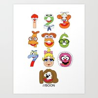 muppet Art Prints featuring Muppet Babies Numbers by Mike Boon
