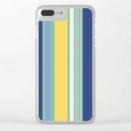 Sunny Beach Print Clear iPhone Case