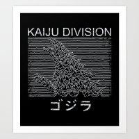 kaiju Art Prints featuring Kaiju Division by Pigboom Art