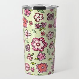 Whimsical Spring Flowers Travel Mug