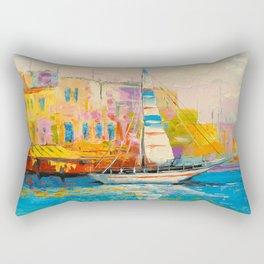 Quiet Harbor Rectangular Pillow