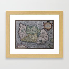 Vintage Map of Ireland (1592) Framed Art Print