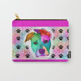 Love is a pit bull Carry-All Pouch