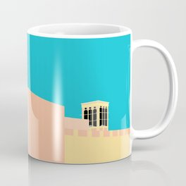 Wind-towers of Bastakiya by Dubai Doodles 007 Coffee Mug